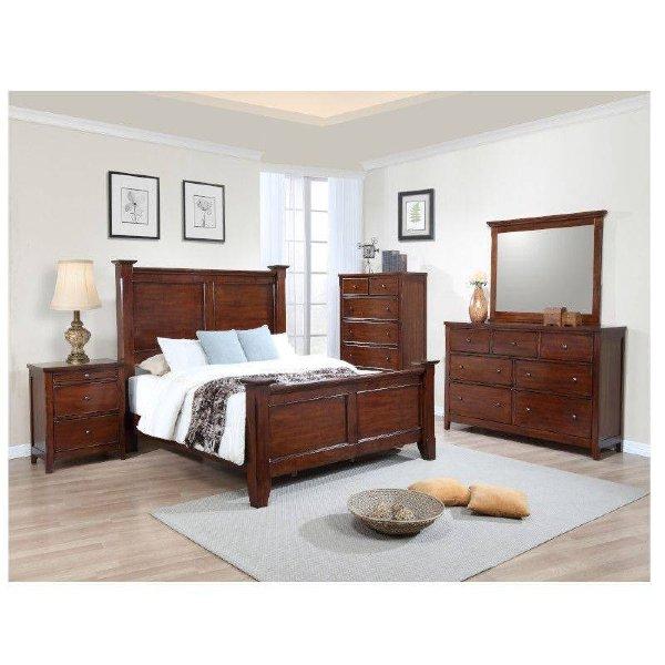 Kingston Five Piece Cherry Wood Bedroom Set Queen For Sale In Jamaica Jadeals Com