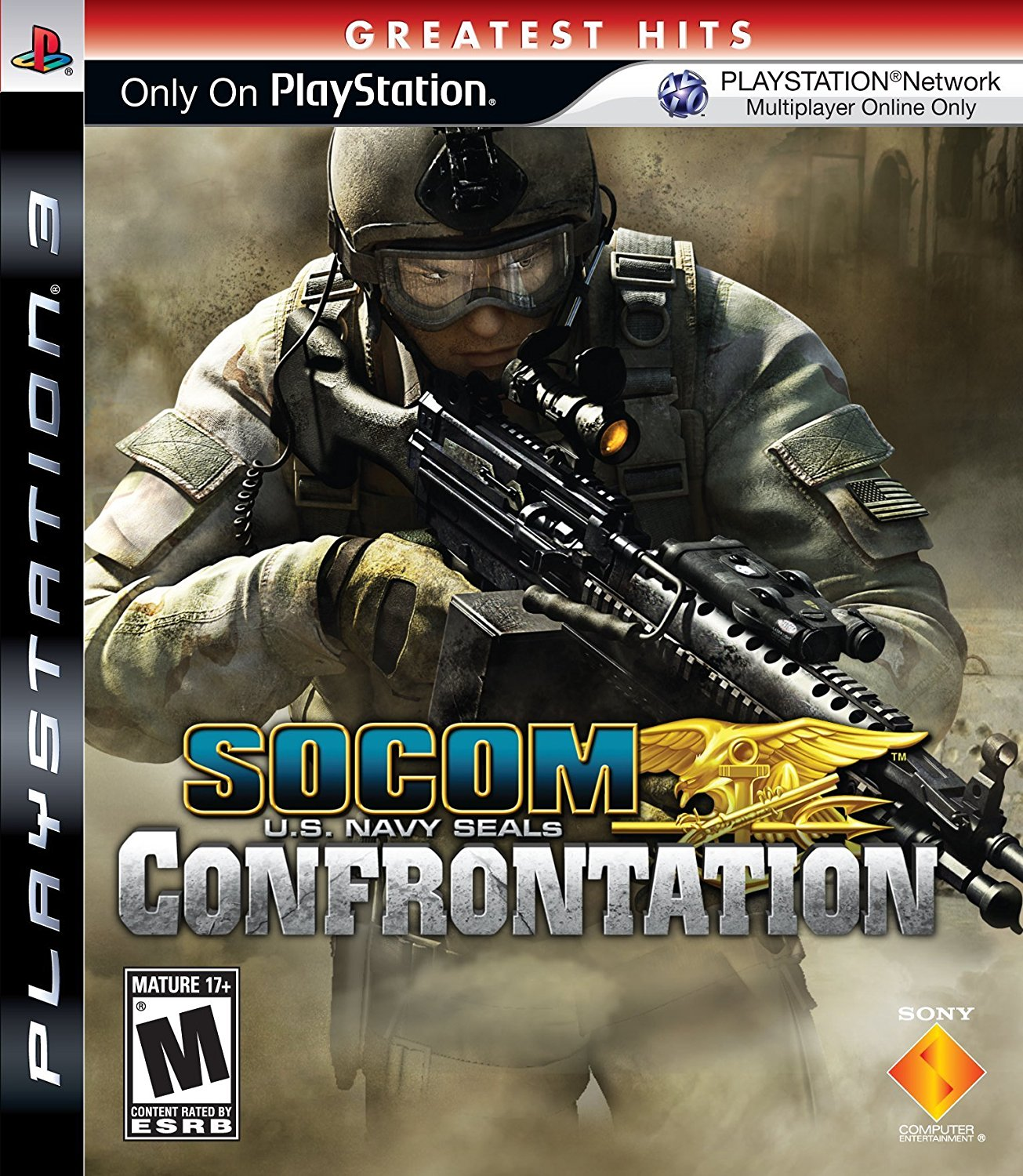 Replacement Case (NO GAME) SOCOM 4 U.S. NAVY SEALS PLAYSTATION 3 ...
